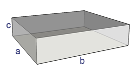 Online Conversion - Surface Area of a Rectangular Box