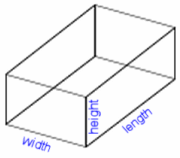 volume of a rectangular box